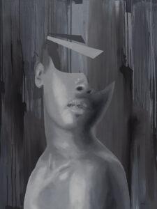 Michał Rejner - Bez tytułu, 2019 - czarno-biały kobiecy portret