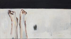 Michalina Garus- Wspomnienie, 2021 - czarno-biały obraz z nogami