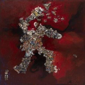 Agnieszka Boroń - Hercules, 2021 - abstrakcja z czerwienią