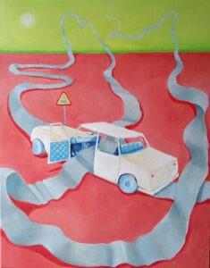 Damian Wojnowski - Nieskończoność - bajkowy obraz z samochodem nieskończoności, 2021