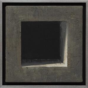 EWA ZAWADZKA - Nokturn 12 (2021) - obraz z architektoniczną strukturą