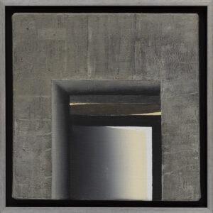 EWA ZAWADZKA - Nokturn 11 (2021) - obraz z architektoniczną strukturą