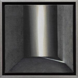 EWA ZAWADZKA - Nokturn 10 - obraz z architektoniczną strukturą i światłem